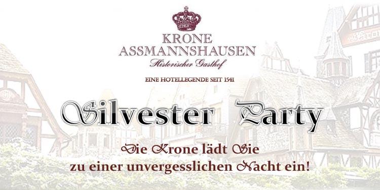 Silvester Party im Hotel Krone Assmanshausen